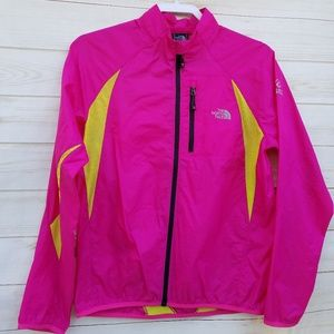 North Face windbreaker S hot pink vented